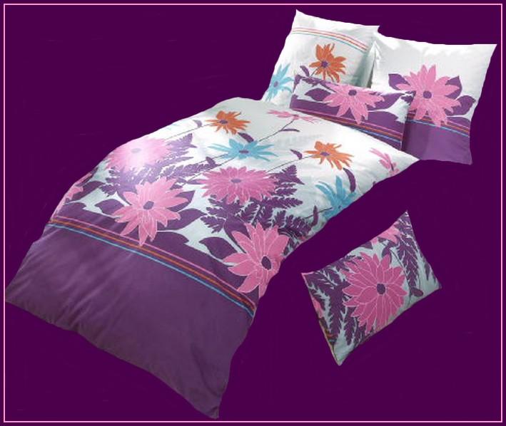 4 tlg bettw sche lila pastellblau pink 40x80 135x200 baumwoll satin neu ebay. Black Bedroom Furniture Sets. Home Design Ideas