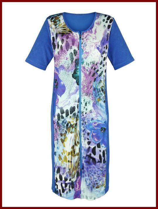 frottee hauskleid royal blau fuchsia lila kleid mit rv 54 60 62 64 66 neu ebay. Black Bedroom Furniture Sets. Home Design Ideas
